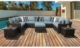 Kathy Ireland Homes & Gardens By Tk Classics Homes & Gardens River Brook 12 Piece Sectional Seating Group Homes & Gardens by TK Classics Cushion Color: Tranquil