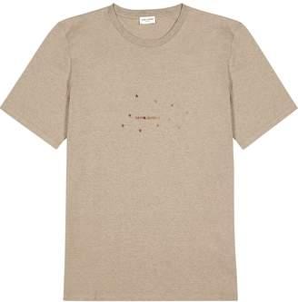 Saint Laurent Logo-print Cotton-blend T-shirt