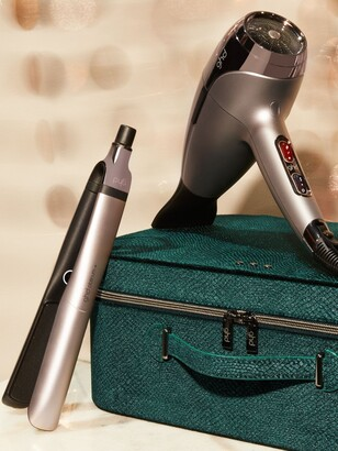 ghd Hair Styling Gift Set with Platinum+ Hair Straighteners & Helios Hair Dryer, Pewter