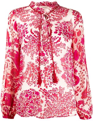 Twin-Set Abstract Floral-Print Blouse