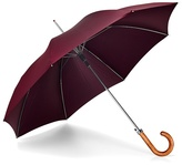 Aspinal Of London Mens Stand Up Automatic Umbrella With Wooden Handle In Burgundy