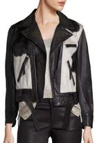 Polo Ralph Lauren Calf Hair & Leather Moto Jacket