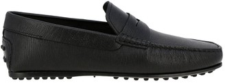 Tod's City Gommini Loafers In Genuine Leather With Crossbar
