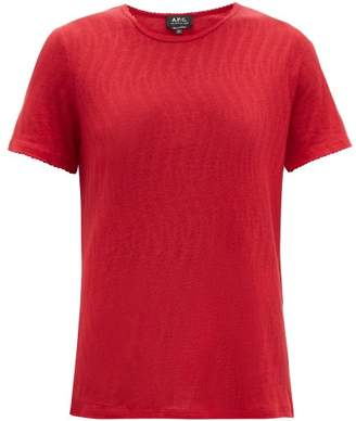 A.P.C. Ball Pointelle T Shirt - Womens - Red