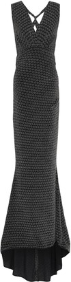 Talbot Runhof Open-back Crochet-knit Maxi Dress