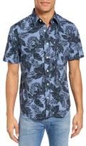 Jack Spade Men's Tropics Short Sleeve Sport Shirt