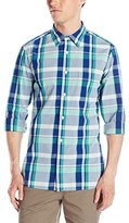 French Connection Men's Madras Check Connory Woven Shirt