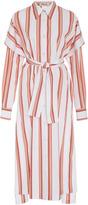 Diane von Furstenberg Collared Midi Shirt Dress
