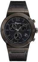 Salvatore Ferragamo Men's F80 Chronograph Leather Strap Watch, 44Mm