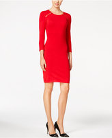 Calvin Klein Zip-Shoulder Sweater Dress