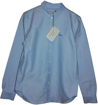 MAISON KITSUNÉ Blue Cotton Top for Women