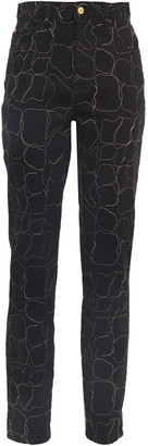 Just Cavalli Embroidered High-rise Slim-leg Jeans