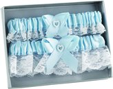Hortense B. Hewitt Wedding Accessories Double Heart Garter Set