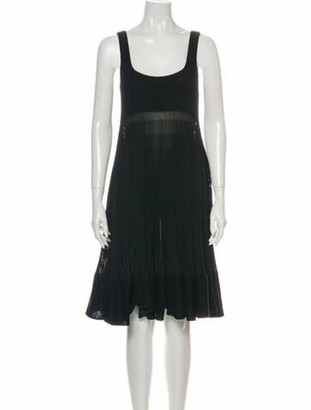 Hermes Silk Knee-Length Dress Black