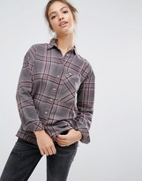 Pull&Bear Boyfriend Shirt In Check