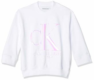 Calvin Klein Jeans Women's Iridescent Monogram Crew Neck Sweatshirt