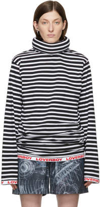 Charles Jeffrey Loverboy Black and White Tube Neck Sweater