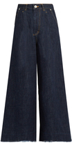 Muveil Bow-pockets wide-leg jeans