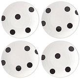 Kate Spade All in Good Taste Deco Dot 4-Piece Tidbit Plate Set