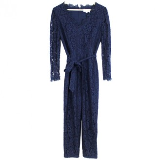 Temperley London Navy Cotton Jumpsuits