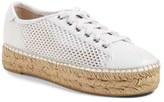Marc Fisher Women's Perforated Espadrille Platform Sneaker