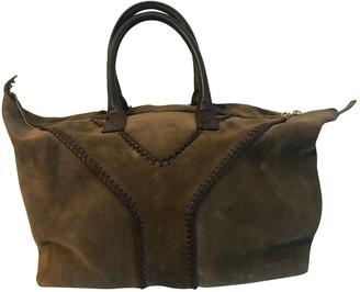 Saint Laurent Easy Khaki Suede Handbags