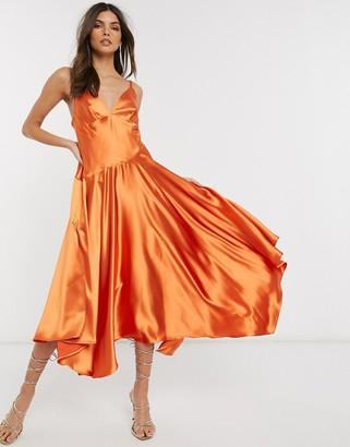 Asos Edition EDITION cami midi dress with seam detail