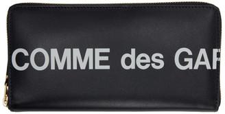 Comme des Garçons Wallets Black Huge Logo Wallet