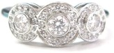 Tiffany & Co. Platinum PT950 0.55ct Diamond Circlet Ring Size 5.5