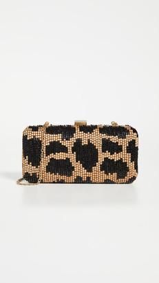 Santi Leopard Beaded Clutch