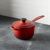 Crate & Barrel Le Creuset ® Signature 1.75 qt. Cerise Red Saucepan with Lid