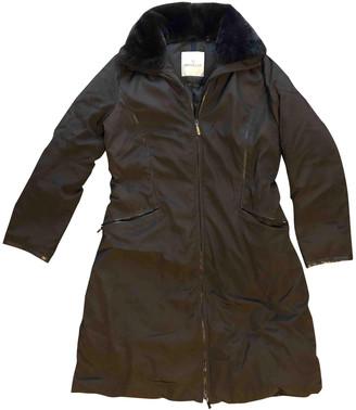 Moncler Long Brown Polyester Jackets