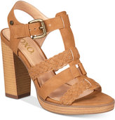 XOXO Kurt Strappy Block-Heel Sandals