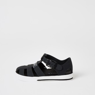 River Island Mini boys Black Prolific caged jelly sandals
