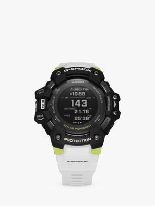 Casio GBD-H1000-1A7ER Men's G-Shock Heart Rate Monitor Watch, White/Black