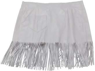 John Richmond Grey Leather Skirts