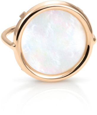 ginette_ny 18K Rose Gold Mother-Of-Pearl Disc Ring