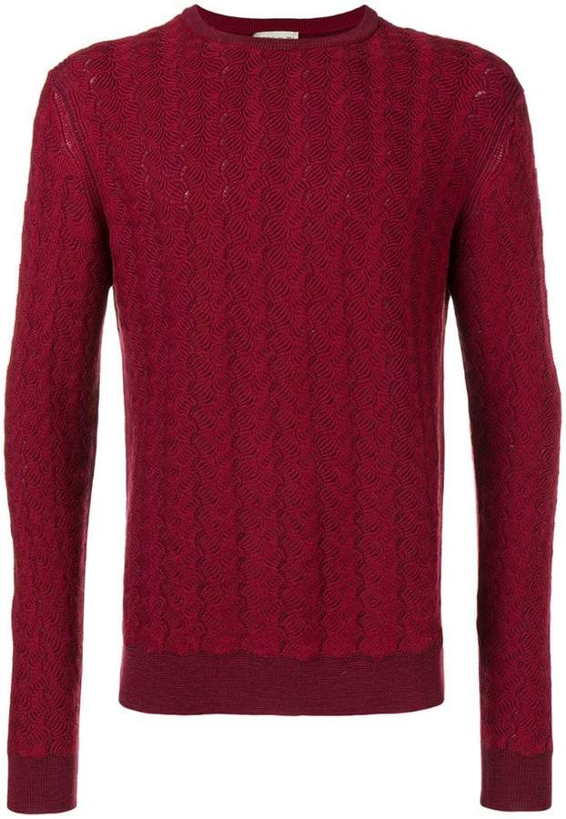 Etro woven patterned jumper