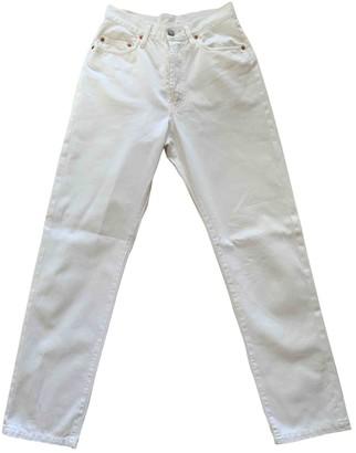 Et Vous White Cotton Trousers for Women