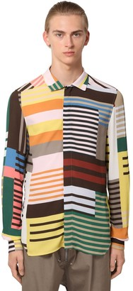 Rick Owens Stripe Printed Viscose Shirt