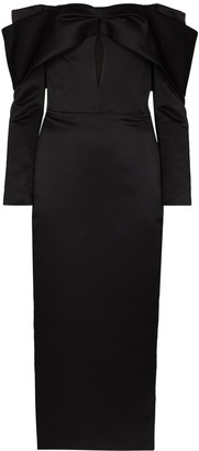 Rasario Off-Shoulder Fitted Midi Dress