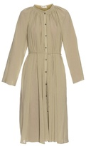 Lemaire Tie-waist cotton-crepe dress