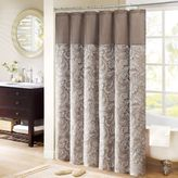Madison Park Aubrey 54-Inch x 78-Inch Jacquard Shower Curtain in Brown