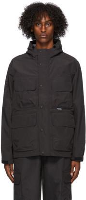 Stussy Black Solid Taped Seam Field Jacket