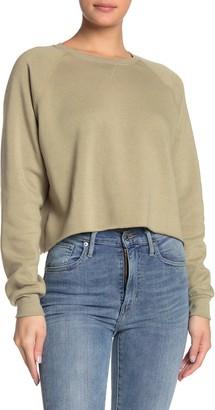 PST by Project Social T Crew Neck Raw Edge Sweatshirt