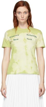 Proenza Schouler Green NY Tie-Dye T-Shirt