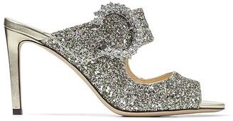 Jimmy Choo Saf glitter-embellished 85mm sandals