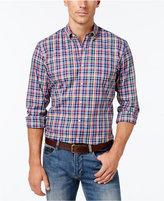 Club Room Men's Big and Tall Plaid Long-Sleeve Shirt