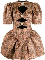 Christopher Kane paisley puffball mini dress