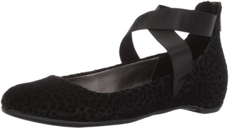 Kenneth Cole Reaction Women's Pro-time Ballet Flat with Elastic Ankle Strap Back Zip-Velvet